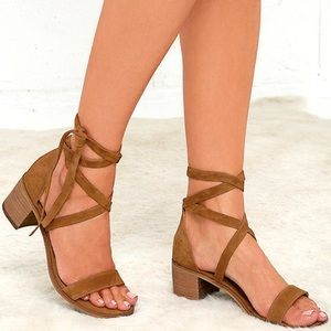 Steve Madden Rizzaa Cognac Leather Sandals